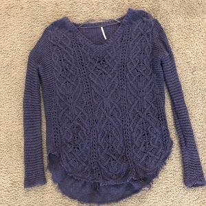 Purple, free people, sweater